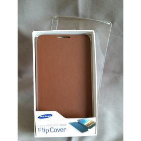 Capa Flip Cover Marron Original, Samsung, Sem Arranhões