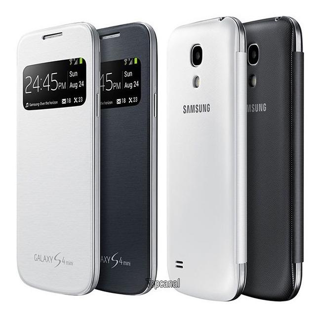 separation shoes 05ad4 3df67 Capa Flip Cover S-view Original Samsung Galaxy S4 Mini I9192 - R$ 99 ...