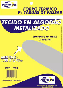 c49e07452 Forro Metalizado Para Tábua De Passar Roupas 130x45cm no Mercado Livre  Brasil