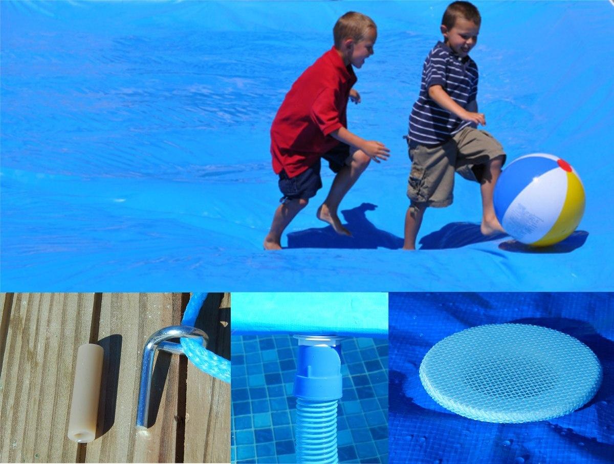 Capa forte piscina 8 5m x 4 5m 300 micra pino a o prote o for Piscina 5x4