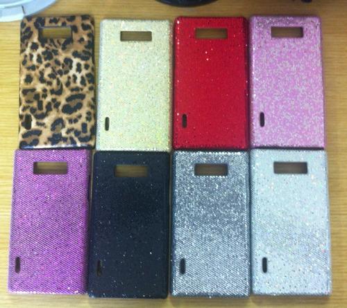 capa galaxy lg l7 glitter fashion - forrado