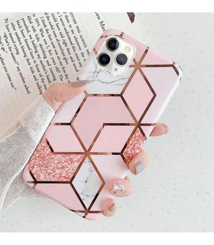 capa gel estampa geométrica apple iphone 11 pro max mármore