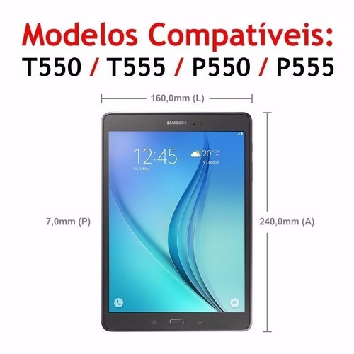 capa giratória 360 tablet samsung tab a 9.7 t550