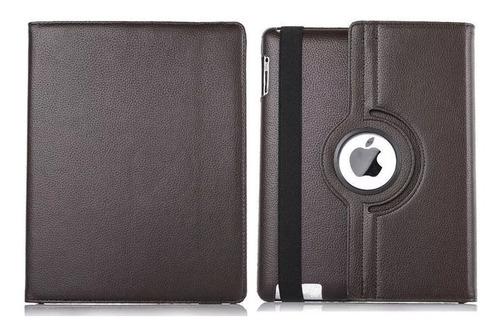 capa giratória couro + película + caneta para ipad 2,3 e 4