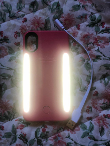 capa iluminadora com led duo da lumee iphone x + case transp