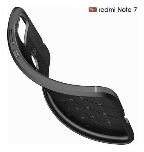 capa imita couro xiaomi redmi note 7+pelicula 3d de vidro