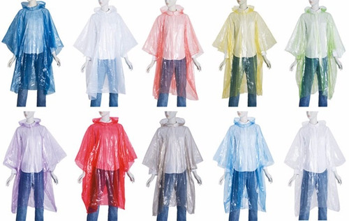 capa impermeable de plastico  para la lluvia poncho cobertor