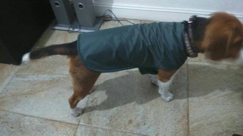 capa impermeable y doble polar para perros chicos