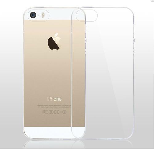 capa iphone 5 5s 5se transparente ultrafina 0,3mm + película