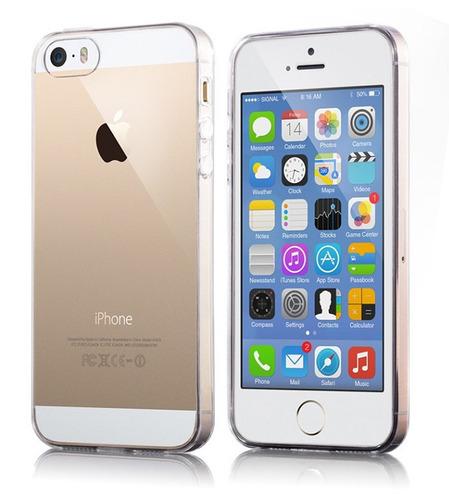 capa iphone 5 5s 5se transparente ultrafina + película d gel