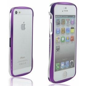 Capa iPhone 5/5s Bumper Alumínio Roxo E Prata - Reforçado