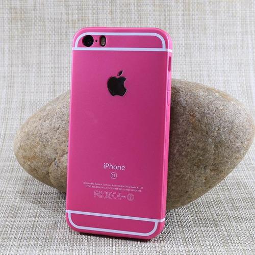 capa iphone 5s 5 se case flexível tpu coloridas emborrachada