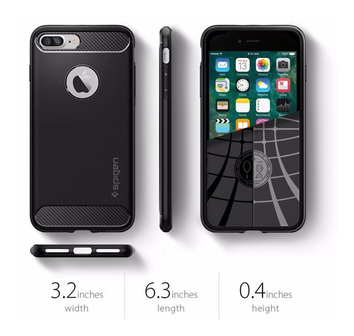 capa iphone 8 plus / 7 plus spigen rugged armor original