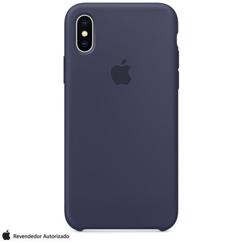 capa iphone x de silicone midnight blue - apple - mqt32zm/a