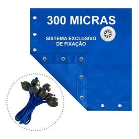 Capa Lona 8x4 M Azul Piscina Cobertura Proteção Sl 300 Micra