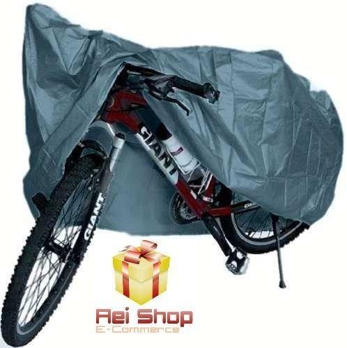 72565baa2 Capa Lona Encerado Bicicleta Bike Impermeável Sol Chuva Fort - R  19 ...