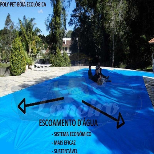 Super kit capa lona piscina 6 5x3 5 cobertura t rmica az for Piscina desmontable 5x3