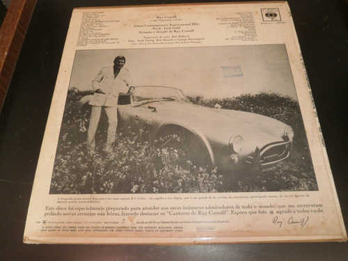 capa lp ray conniff - great contemporary instrumental hits