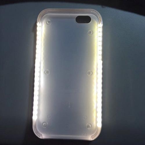 capa lumee case led iphone 6 plus 6s plus selfie rosa salmão