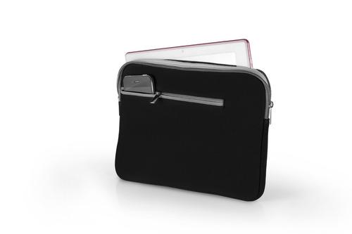 capa luva pasta case tablet 7'' dupla face preto e cinza