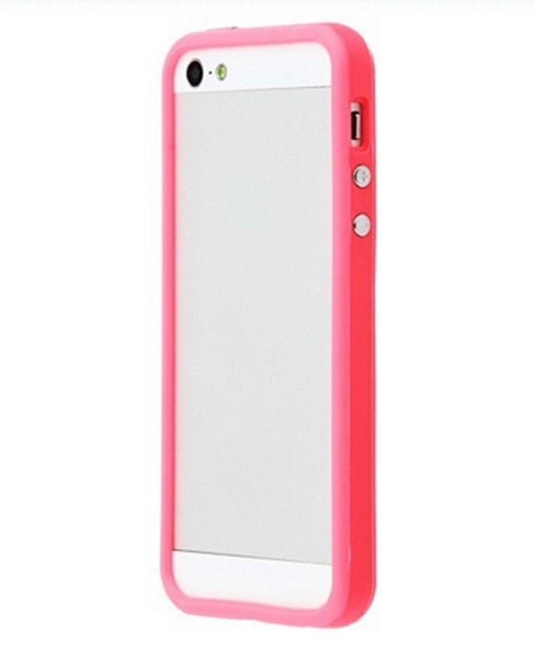669151e4663 capa luxo tpu bumper rosa pink para apple iphone 5 iphone 5s. Carregando  zoom.
