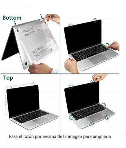 capa macbook pro 13' touch bar ou a1706 a1708 a1989 kit 2×1