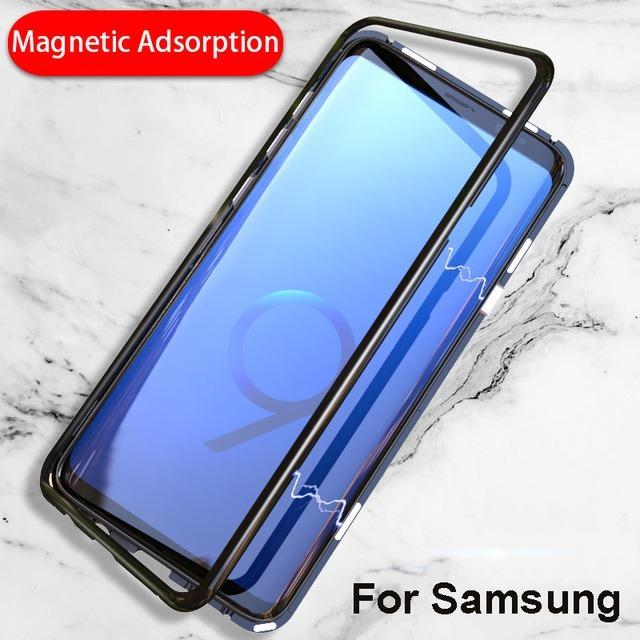 9ac609c89e4 Capa Magnética Alumínio E Vidro Traseiro Galaxy S9 Plus - R$ 54,49 ...