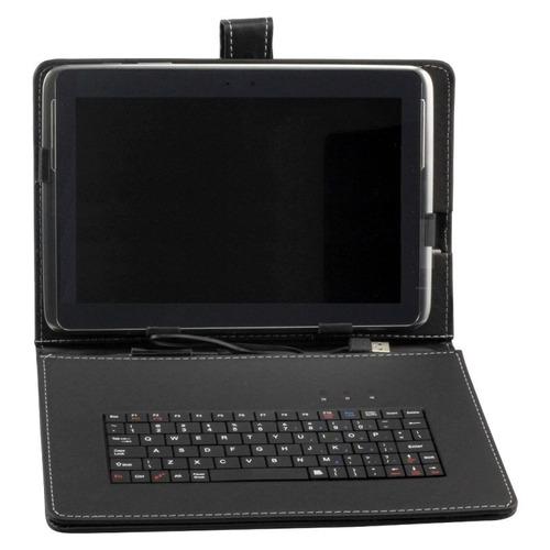 capa micro e mini usb teclado universal tablet 10 / 10.1