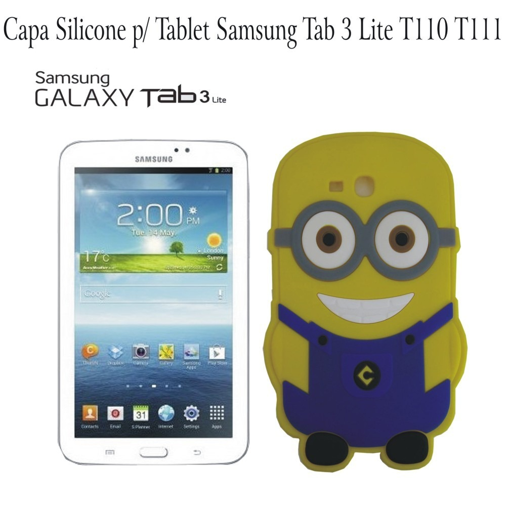 Capa minion silicone tablet samsung galaxy tab 3 lite t110 r 25 99 em mercado livre - Samsung galaxy tab 3 vs tab 3 lite ...