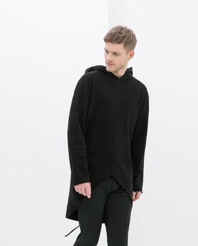 capa negra para caballero de zara man talla s 38