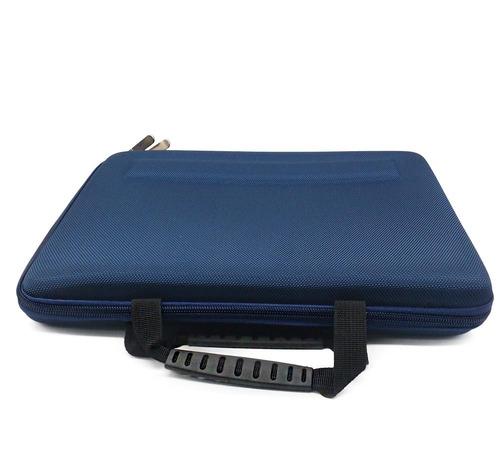 capa notebook 12 polegadas com alça e zíper duplo rígida
