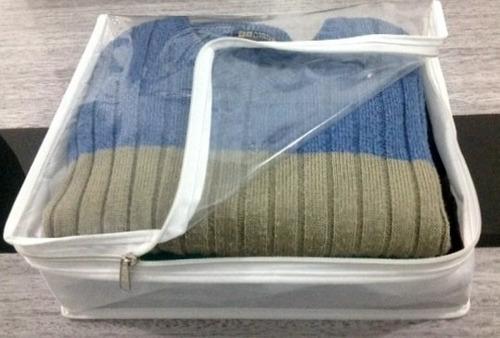 capa organizadora e protetora de camisas (kit 10 pçs)