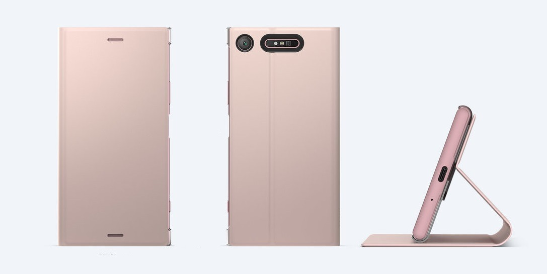pretty nice 95391 5b84d Capa Original Sony Xperia Xz1 Style Cover Stand Scsg50 Rosa