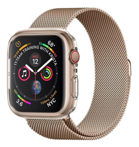 capa original spigen apple watch s4 44mm liquid crystal