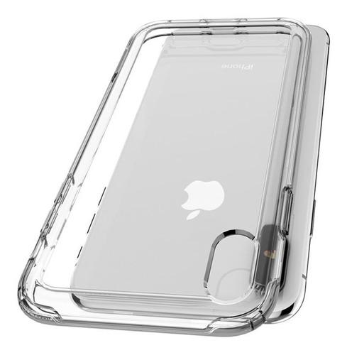 capa original spigen iphone x e xs slim armor dark crystal
