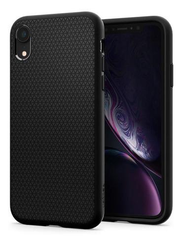 capa original spigen iphone xr 6,1  liquid air armor black