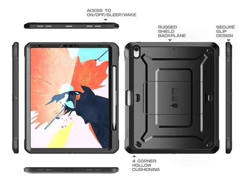 capa p/ apple ipad pro 11 - 360 anti-impacto preta - supcase