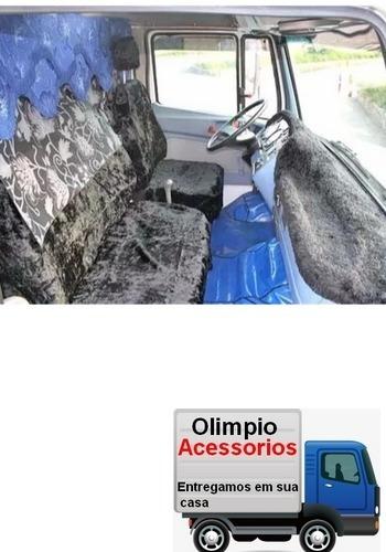 capa painel caminhão 1620 pelúcia preta