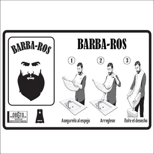 capa para afeitar regalo para hombres barba-ros peines