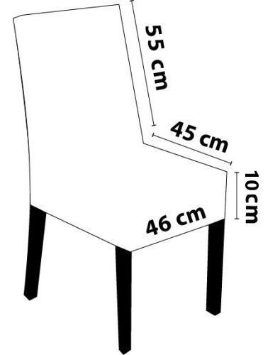capa para cadeira de malha - kit 4 peças direto da fábrica