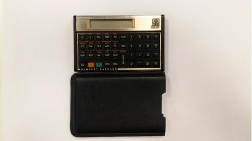 capa para calculadora hp 12c 100% couro