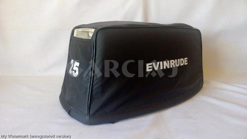 capa para capo motor de popa evinrude 25hp-mod. até 1992