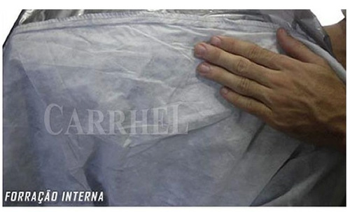capa para carro gofrada com forro total / impermeável p m g