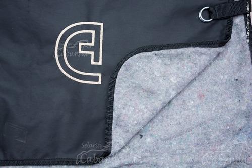 capa para cavalo forrada impermeável original s. cabanha