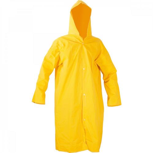 capa para chuva de pvc com forro 135 m amarela gg jawt