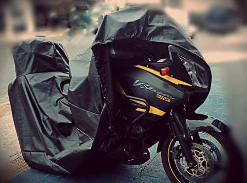 capa para cobrir moto c/ porta baú 47 litros térmica g650 gs