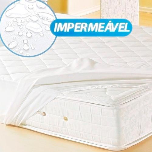 capa para colchão casal impermeável - nanda enxovais