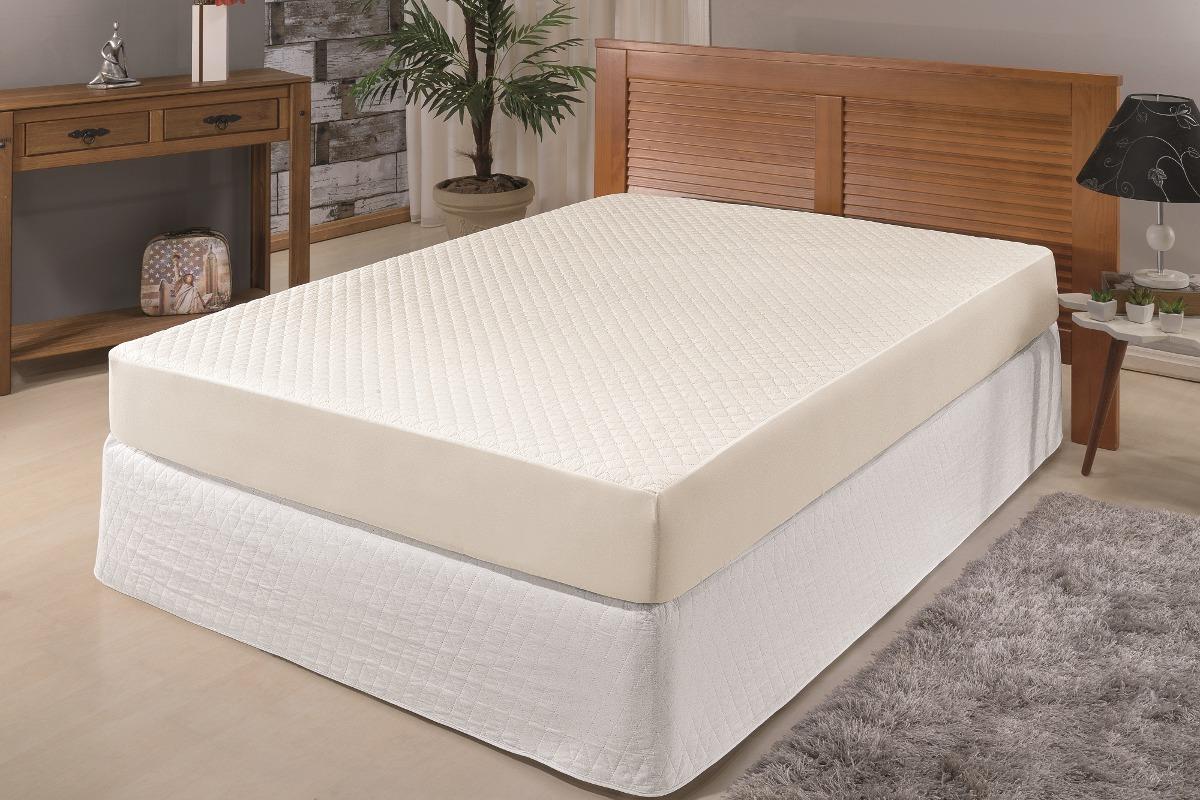 ab939ea85 capa para colchão impermeável e saia cama box queen palha. Carregando zoom.