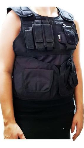 capa para colete hacker acolchoada preto com acessórios