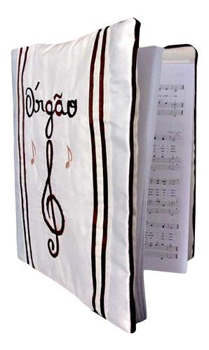capa para hinário de organista em tecido g